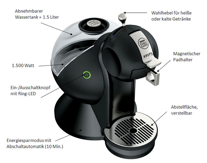 Krups Dolce Gusto wei&szlig;