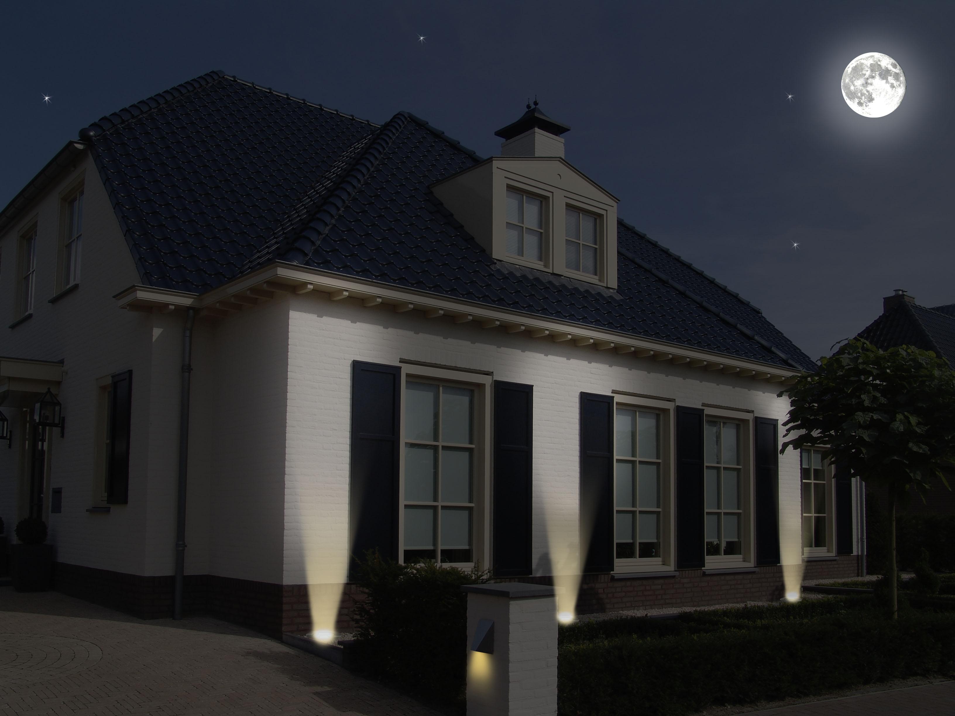 ranex led bodeneinbaustrahler f r au en rund. Black Bedroom Furniture Sets. Home Design Ideas