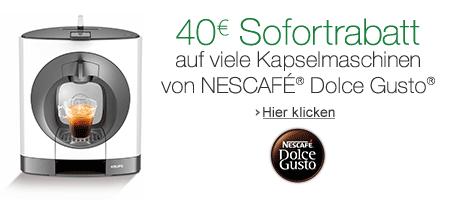 Nescafe Dolce Gusto: 40 EUR Sofortrabatt