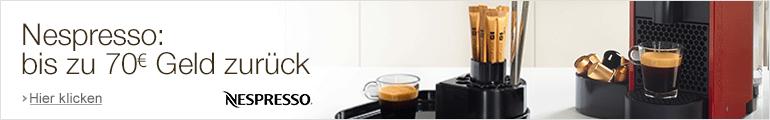 Nespresso: bis zu 70 EUR Guthaben