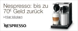 Nespresso: bis zu 70 EUR Geld zur�ck