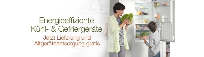Gratis Altgeräteentsorgung auf ausgewählte Kühl-und Gefriergeräte