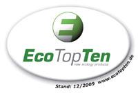 Ausgezeichnet von EcoTopTen
