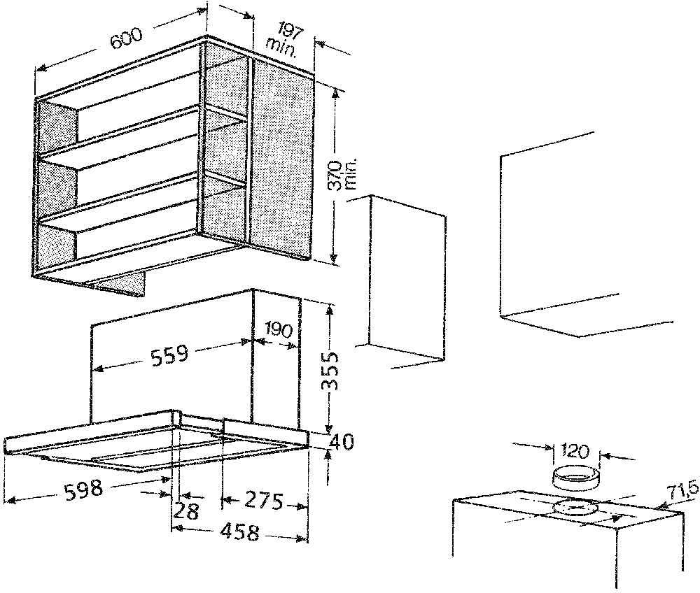 bauknecht dnv 5460 sg mod dunstabzugshaube 60 cm 390. Black Bedroom Furniture Sets. Home Design Ideas