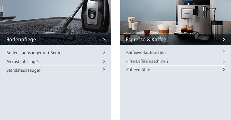 Siemens Staubsauger und Kaffee