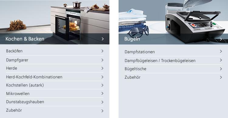 Siemens Kochen, Backen und Bügeln