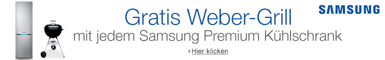 Samsung Premium-Kühlschrank inklusive Weber Grill