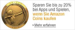 Bis zu 20% bei Apps, Spielen und In-App-Käufen mit Amazon Coins sparen