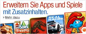 Erweitern Sie Apps und Spiele mit Zusatzinhalten