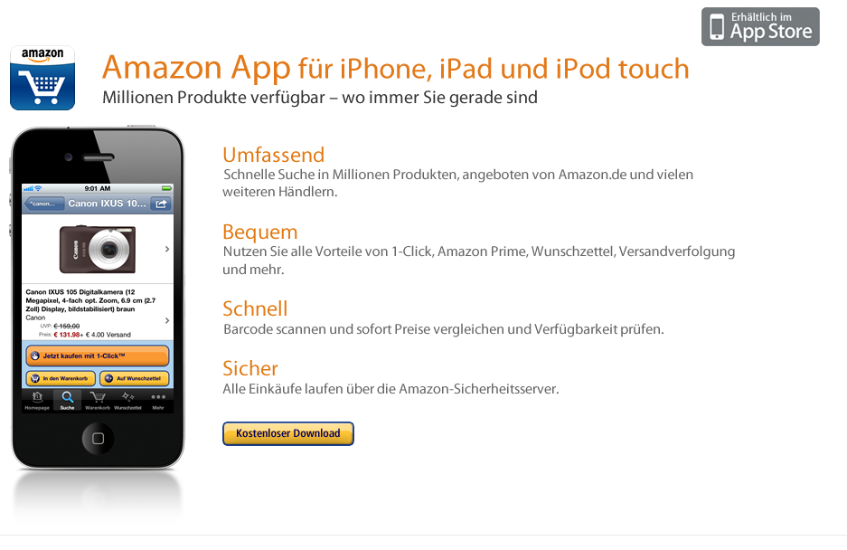 Amazon DE iPhone App