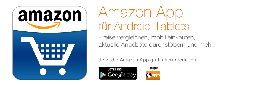 Die Amazon App f�r Android-Tablets