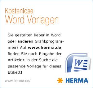 HERMA Word Vorlagen