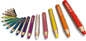 STABILO woody 3 in 1 – erhältlich in 18 intensiven Farben.