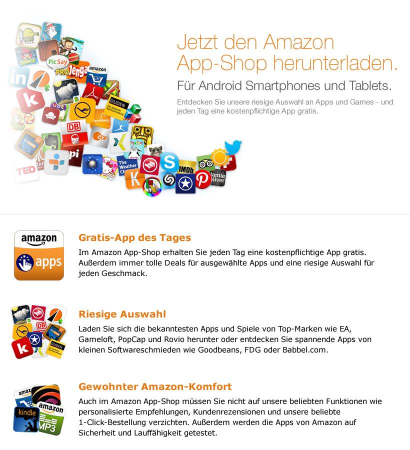 Info: Amazon.de hat seinen eigenen Android-Store gestartet