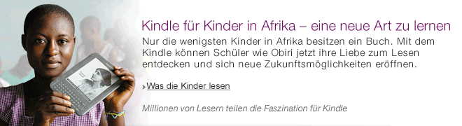 Teaser Bild für Amazon Special: Kindle für Kinder in Afrika