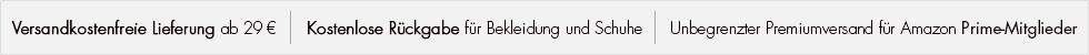 Versandkostenfreie Lieferung ab 29 EUR Bestellwert, Kostenlose Rückgabe für Bekleidung und Schuhe