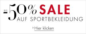 Sale 50% auf Sportbekleidung