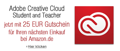25 EUR Amazon.de Gutschein gratis beim Kauf von Adobe Creative Cloud Student and Teacher