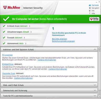 McAfee Internet Security 2012 – digitale Sicherheit