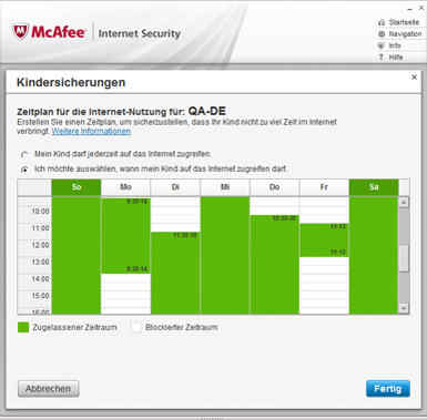McAfee Internet Security 2012 – Online-Schutz
