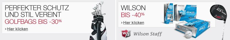 Golf Golfbags und Wilson Staff