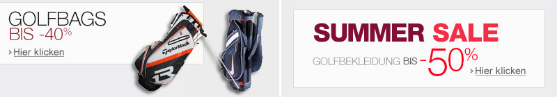 Golfbags und Golf Summer Sale