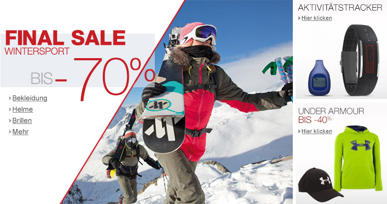 Wintersport - Sale bis -70%