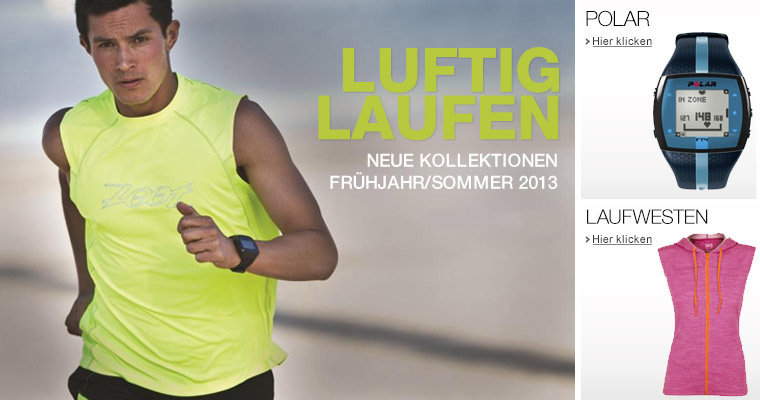 Laufbekleidung Neue Kollektionen 2013