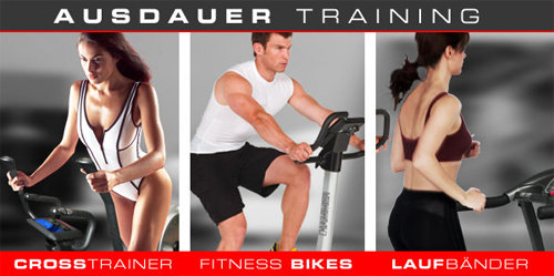 Ausdauertraining mit Hammer - Crosstrainer, Fitnessbikes, Laufbänder