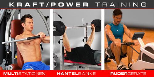 Hammer Krafttraining, Ausdauertraining - Multistationen, Hantelbänke, Rudergeräte, Laufbänder, Fitnessbikes, Crosstrainer und mehr.