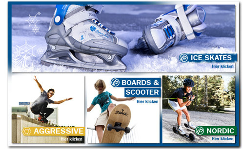 Powerslide Ice Skates, Boards und Scooter
