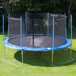 ultrasport gartentrampolin jumper 430 cm inkl sicherheitsnetz ohne federn ebay. Black Bedroom Furniture Sets. Home Design Ideas