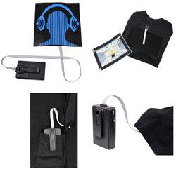 Ultrasport LED T-Shirt – Equalizer Motiv bewegt sich zur Musik,  inkl. Batterien - Zusatzbild
