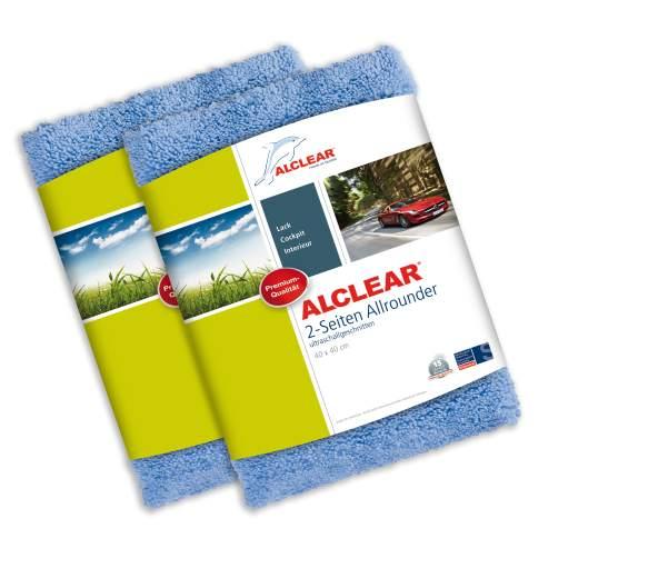 ALCLEAR 5713050M 2-er Set Profi Handpolierschwamm 130 x 50 mm mit umlaufender Griffleiste, blau - Weitere Features
