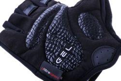 Ultrasport Funktions-Fahrradhandschuh mit Gel-Einlage und Frottee-Daumen für Damen und Herren