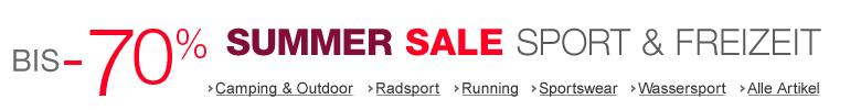 Summer Sale Sport & Freizeit