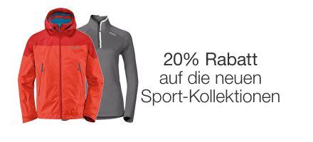 20% Rabatt auf Sportbekleidung