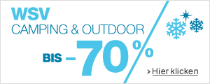 Sale 70% auf Camping & Outdoor