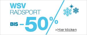 Sale 50% auf Radsportartikel
