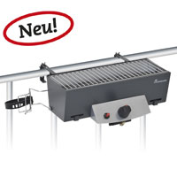 landmann gas balkongrill silber 50 x 25 5 x 21 5 cm garten. Black Bedroom Furniture Sets. Home Design Ideas