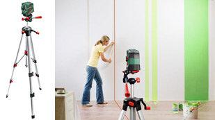 bosch pcl 20 set kreuzlinien laser stativ schutztasche wandhalterung 10 m arbeitsbereich. Black Bedroom Furniture Sets. Home Design Ideas