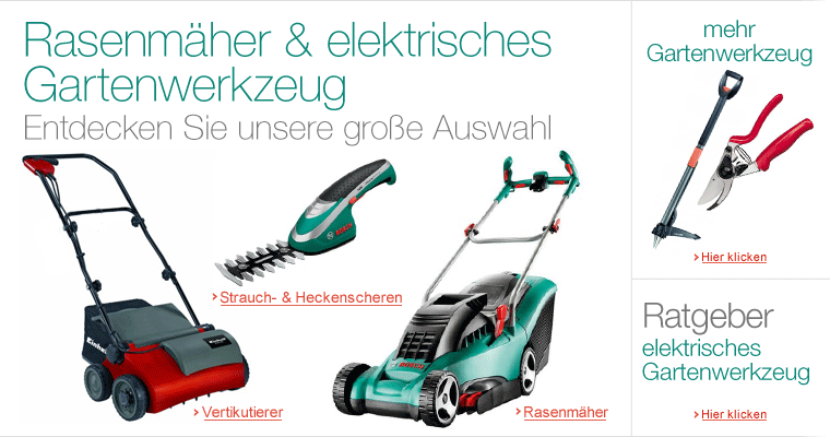 Rasenmher & elektrisches Gartenwerkzeug