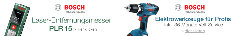 PLR 15 & Bosch 10,8 V und 18 V Systeme