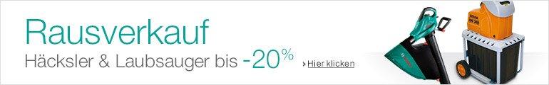 Häcksler & Laubsauger bis -20%