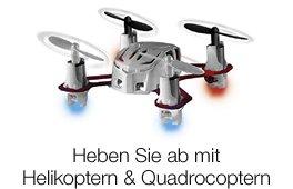 Abheben mit ferngesteuerten Helikoptern und Quadrocoptern