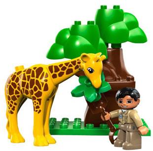 lego duplo zoo set deluxe giraffe tierpfleger