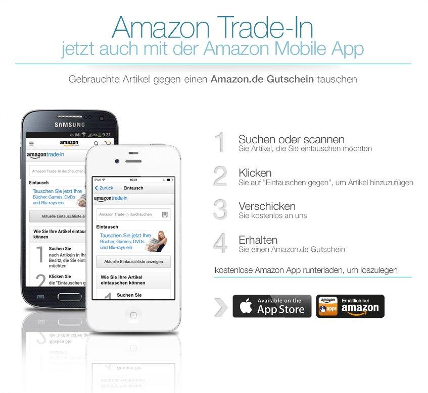 Trade-In mit der Amazon App nutzen