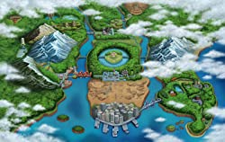 The Unova region from Pok&eacute;mon Black and Pok&eacute;mon White