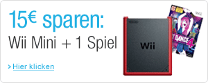 15 EUR sparen: Wii Mini Konsole plus ein Spiel
