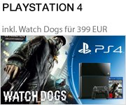 Nur 399 EUR: PlayStation 4 Konsole inkl. Watch Dogs